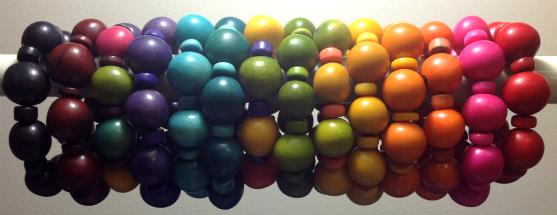 Tagua Bauble Bracelet Display